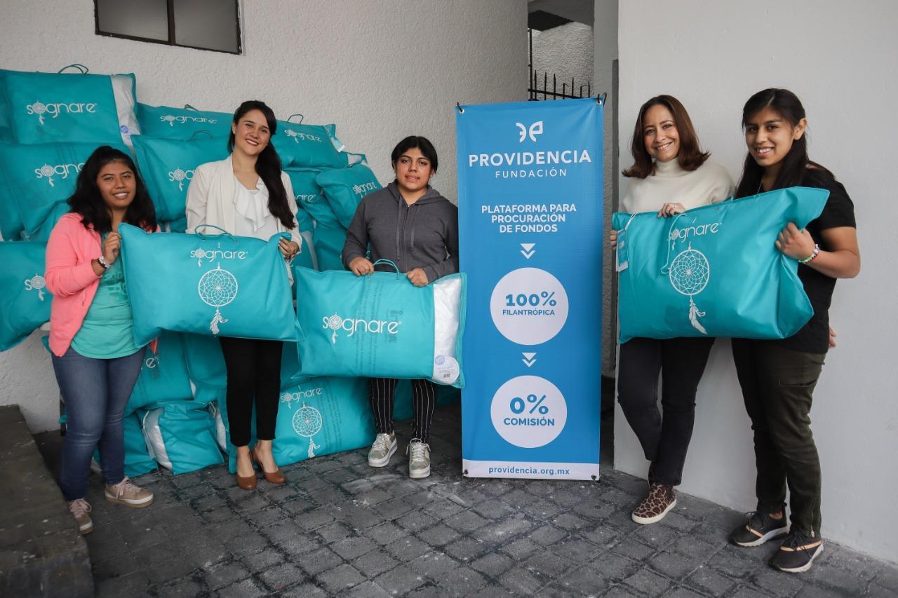 Fundación Providencia y Fundación Inova contigo cumplen los dulces sueños de niñas, niños y adolescentes de fundación DB con Sognare®.